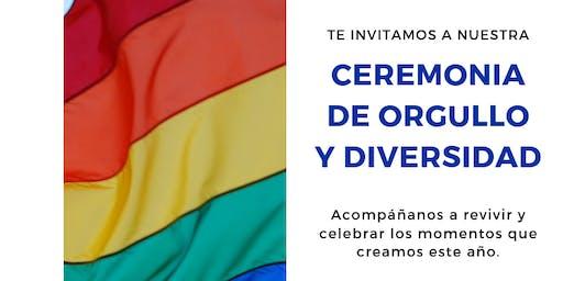 Ceremonia de Orgullo y Diversidad