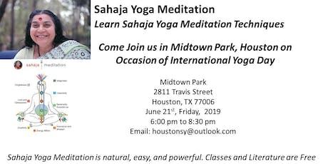 Learn Sahaja Yoga Meditation on the occasion of International Yoga Day  tickets