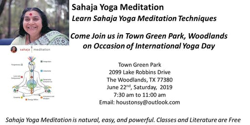 Learn Sahaja Yoga Meditation on the occasion of International Yoga Day