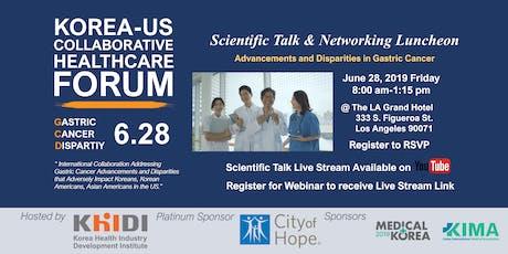 (Webinar Available) Scientific Talks & Networking Luncheon-Collaborative Healthcare Forum 2019  tickets