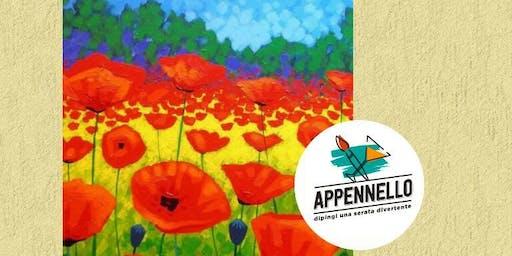 Papaveri, poppies: aperitivo Appennello a Pesaro