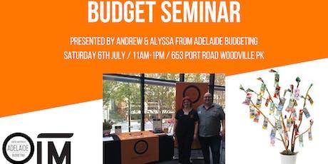 Budget Seminar tickets
