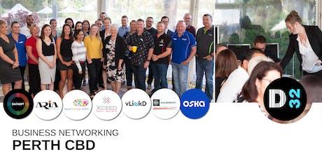 District32 Business Networking Perth – Perth CBD - Thu 18th July tickets
