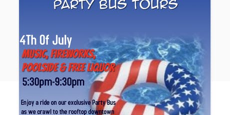 4Th Of July Rooftop Bus Crawl tickets