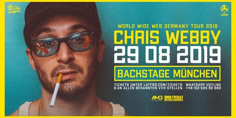 Chris Webby Live in München - 29.08.19 - Backstage tickets