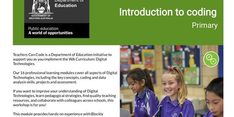 Teacher Can Code Introduction to programming Primary and Secondary tickets