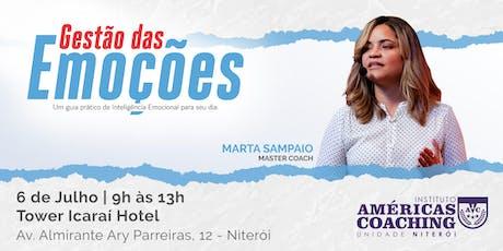 Workshop Gestão das Emoções - Com Marta Sampaio ingressos