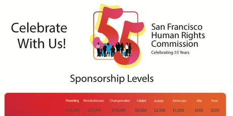 55th Anniversary Celebration Sponsorship Levels tickets