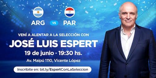 Espert con la Selección Argentina vs Paraguay