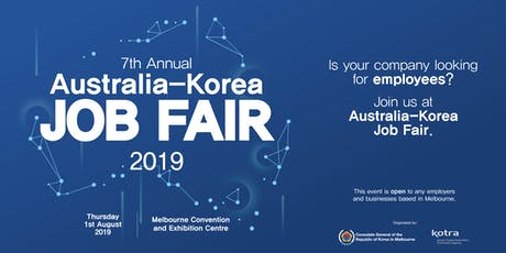 7th Annual Australia-Korea Job Fair 2019 - for Employers and Businesses tickets