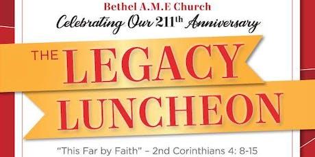 BETHEL AME CHURCH - LEGACY LUNCHEON tickets