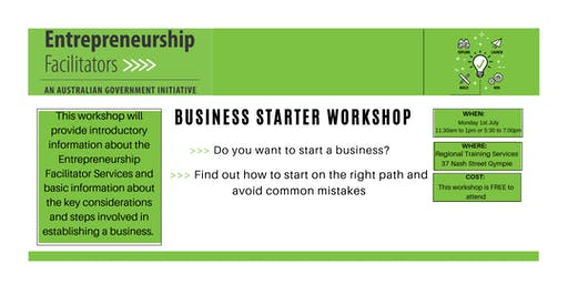 Business Starter Workshop July 2019