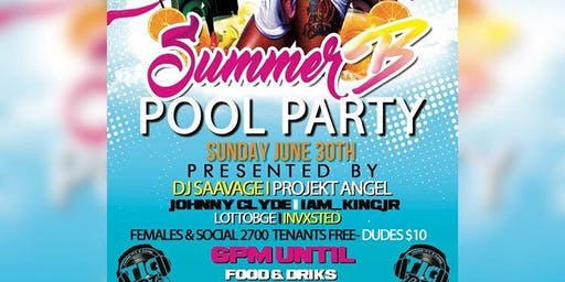 Summer B Pool Party
