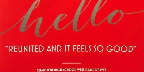 "Cranston High School West ""1979"" 40th Class Reunion tickets"