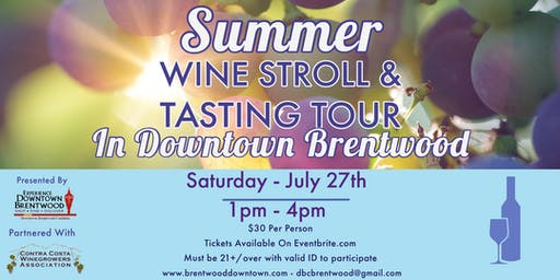 Summer Wine Stroll In Downtown Brentwood