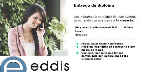 Entrega de Diplomas EDDIS entradas