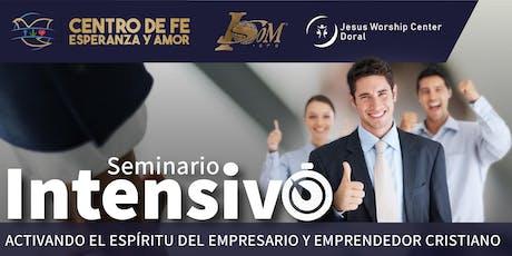 Seminario Intensivo para Pastores, Emprendedores y Empresarios entradas