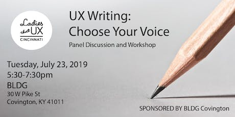 UX Writing: Choose Your Voice tickets