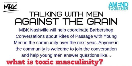 talking with men...AGAINST THE GRAIN Facilitator Training tickets
