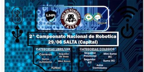 2° Campeonato Robótica entradas