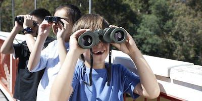 Junior Rangers Twitching at the Brickworks - Merbein Common