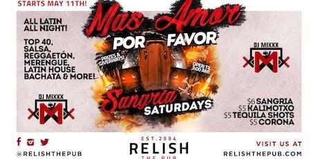 Relish Pub Sangria Saturdays – New Latin Night tickets
