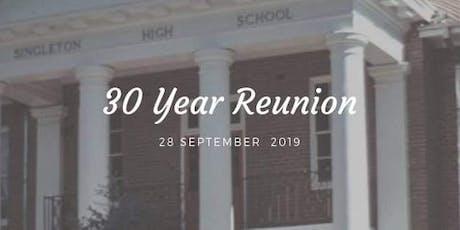 Singleton High 30year Reunion tickets