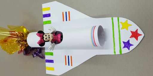 Mascot Library - School Holiday Activity - Space Shuttle Model
