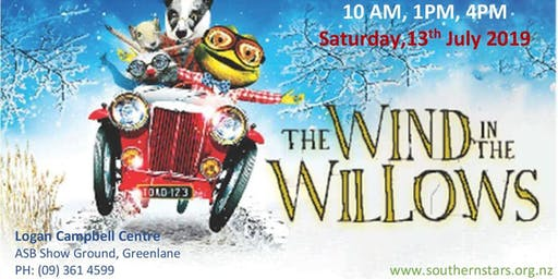 The Wind in The Willows live on stage at 1PM, Saturday 13th July
