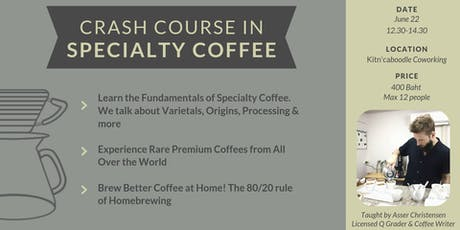 Crash Course in Specialty Coffee tickets