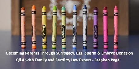 Becoming Parents Through Surrogacy, Egg, Sperm and Embryo Donation - Q&A tickets