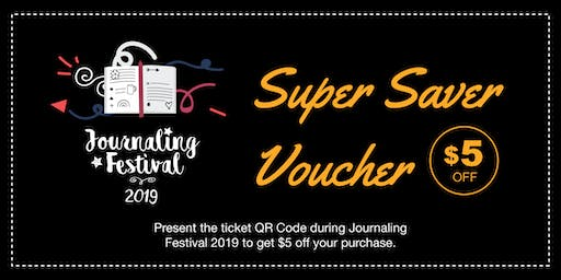 Journaling Festival 2019 - Super Saver Voucher
