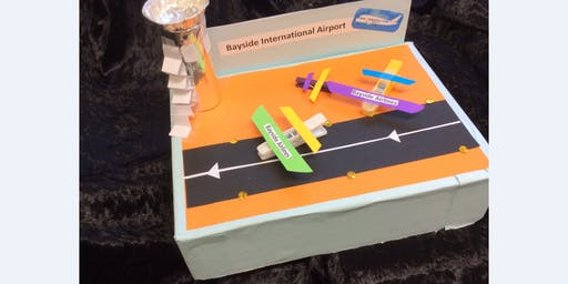 Sans Souci Library - School Holiday Activity - Airport Model