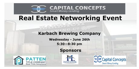 Capital Concepts Networking Event - Meet the Best Team in Real Estate Investing tickets