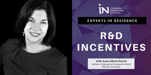 Experts in Residence | R&D Incentives with Anne-Marie Perret
