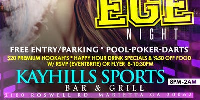 COLLEGE NIGHT @ Kayhill's