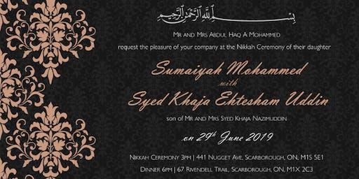 Sumaiyah & Ehtesham's Nikkah Ceremony