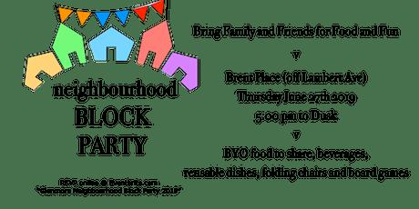 Glenmore Neighbourhood Block Party 2019 tickets