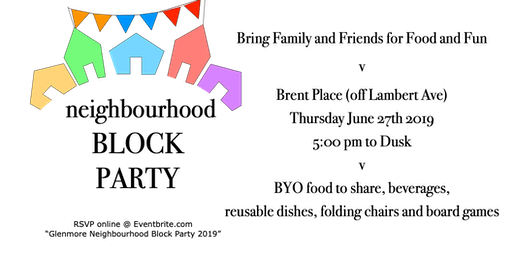 Glenmore Neighbourhood Block Party 2019