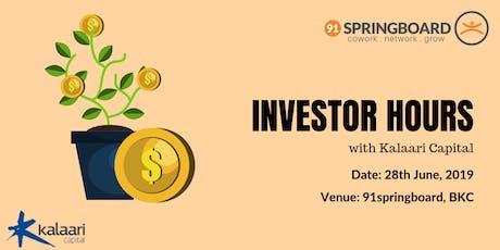 Investor Hours with Kalaari Capital tickets