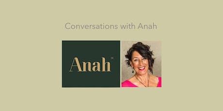 Conversations With Anah Workshop - Timaru tickets