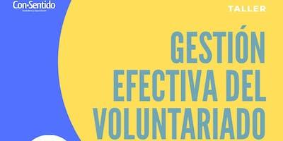 Taller Gestión efectiva del voluntariado