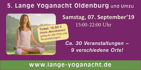 5. Lange Yoganacht Oldenburg und Umzu Tickets