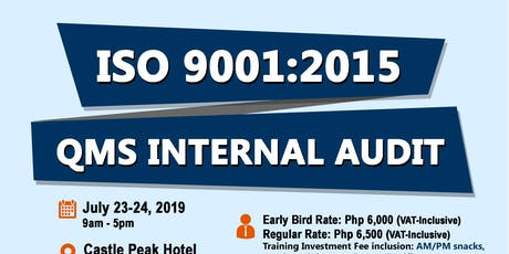 9001:2015 QMS Internal Quality Audit tickets