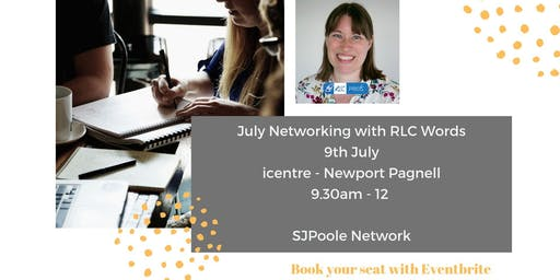 July Networking with a blogging expert