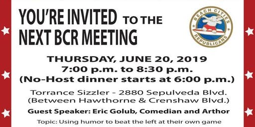 Beach Cities Republicans June Monthly Meeting