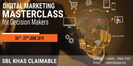 2-Day Digital Marketing Masterclass for Decision Makers