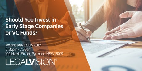 Should You Invest in Early Stage Companies or VC Funds?  tickets