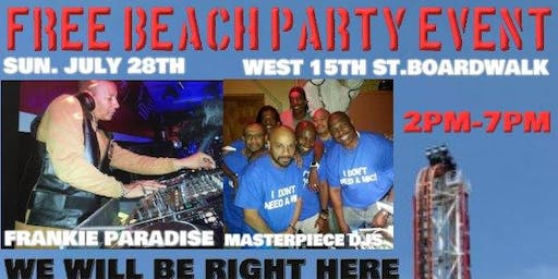 Coney Island House Music Event Frankie Paradise Masterpiece Djs