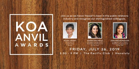 Koa Anvil Awards 2019 tickets